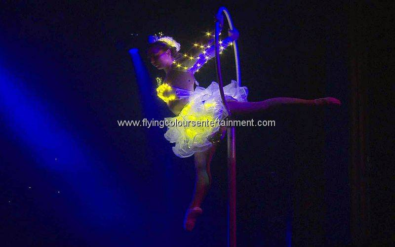 Glow LED Light Aerial Acrobats